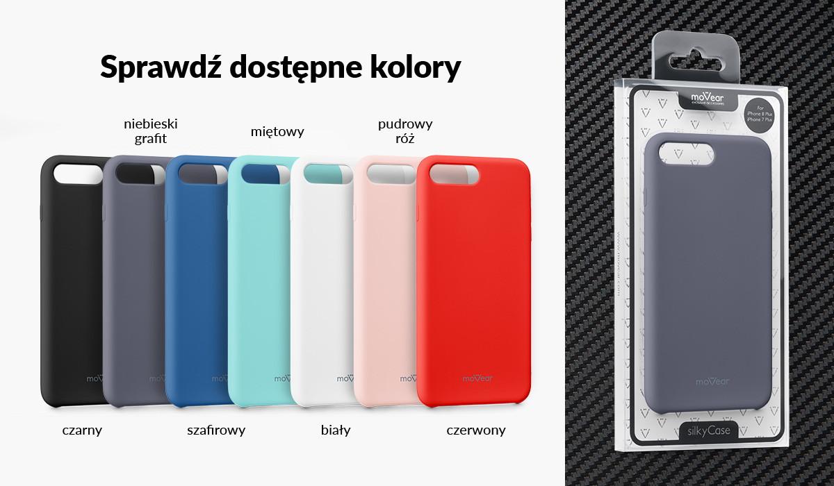 Silikonowe etui do iPhone 8 Plus / iPhone 7 Plus dostępne w wielu kolorach