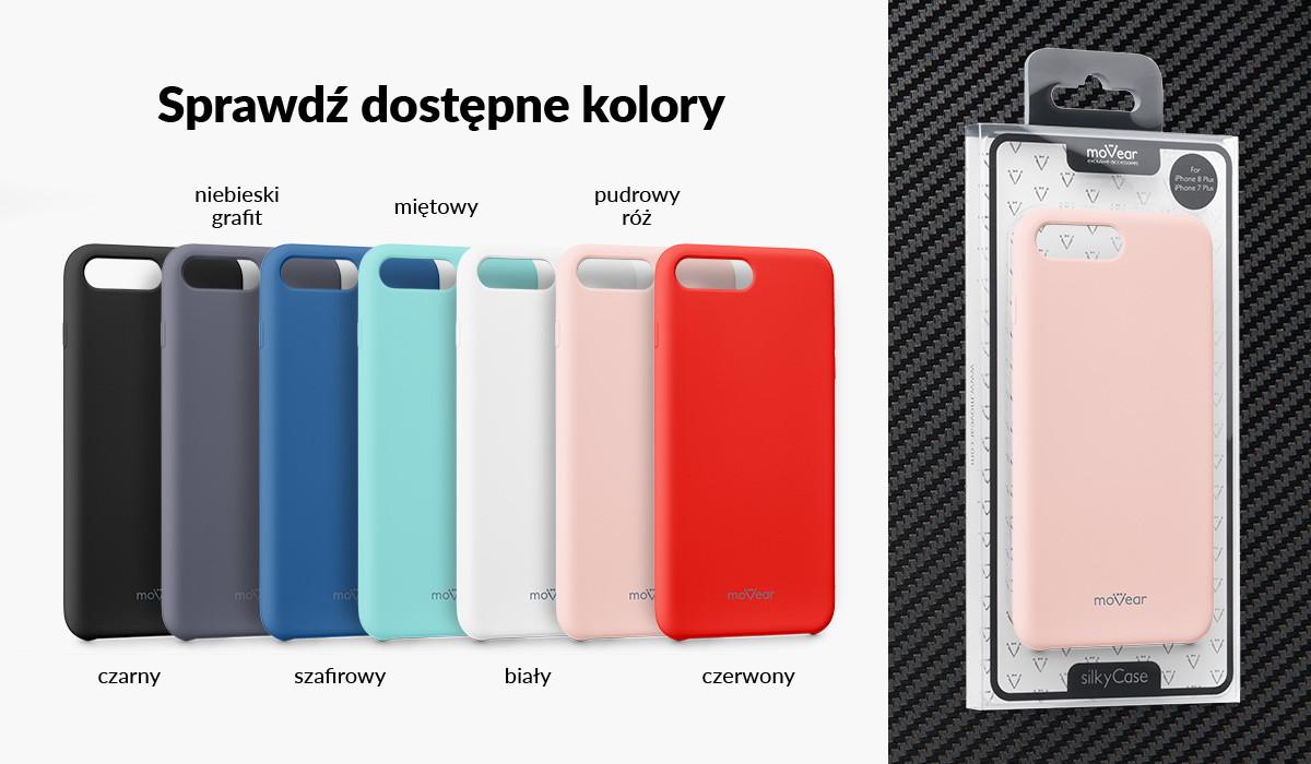 Silikonowe etui do Apple iPhone 8/7 Plus 5.5 cala dostępne w wielu kolorach