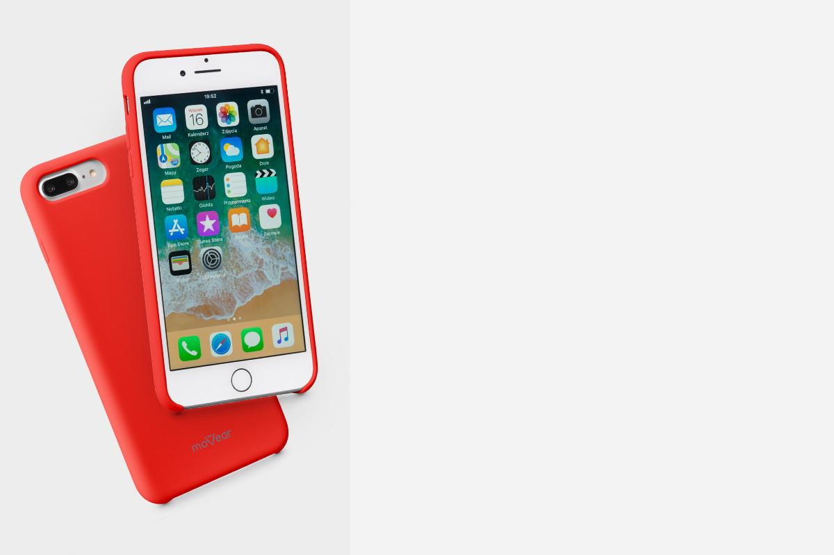 Etui silikonowe na: Apple iPhone 8/7 Plus 5.5 cala