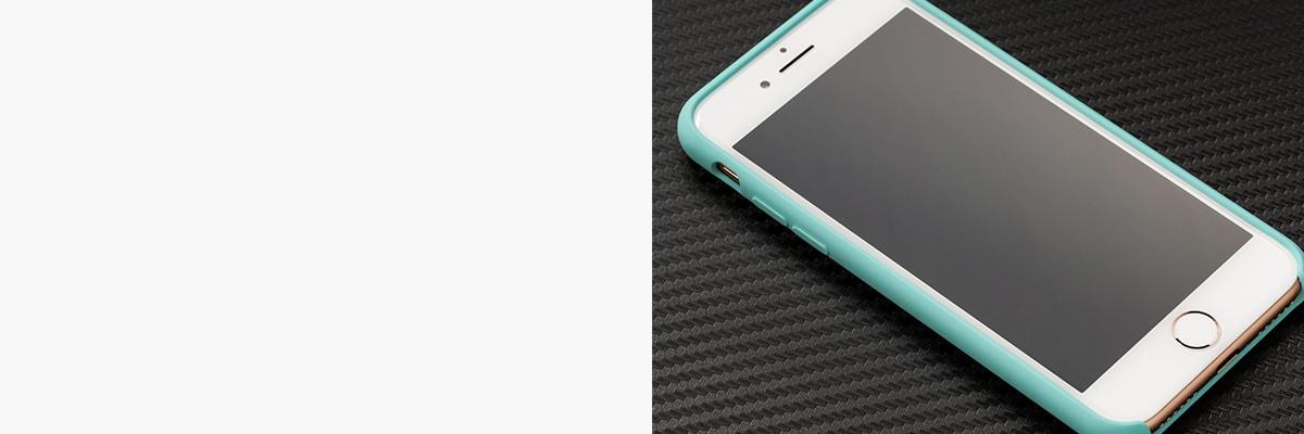 Dopasowane i podniesione krawędzie etui silkyCase na Apple iPhone 8