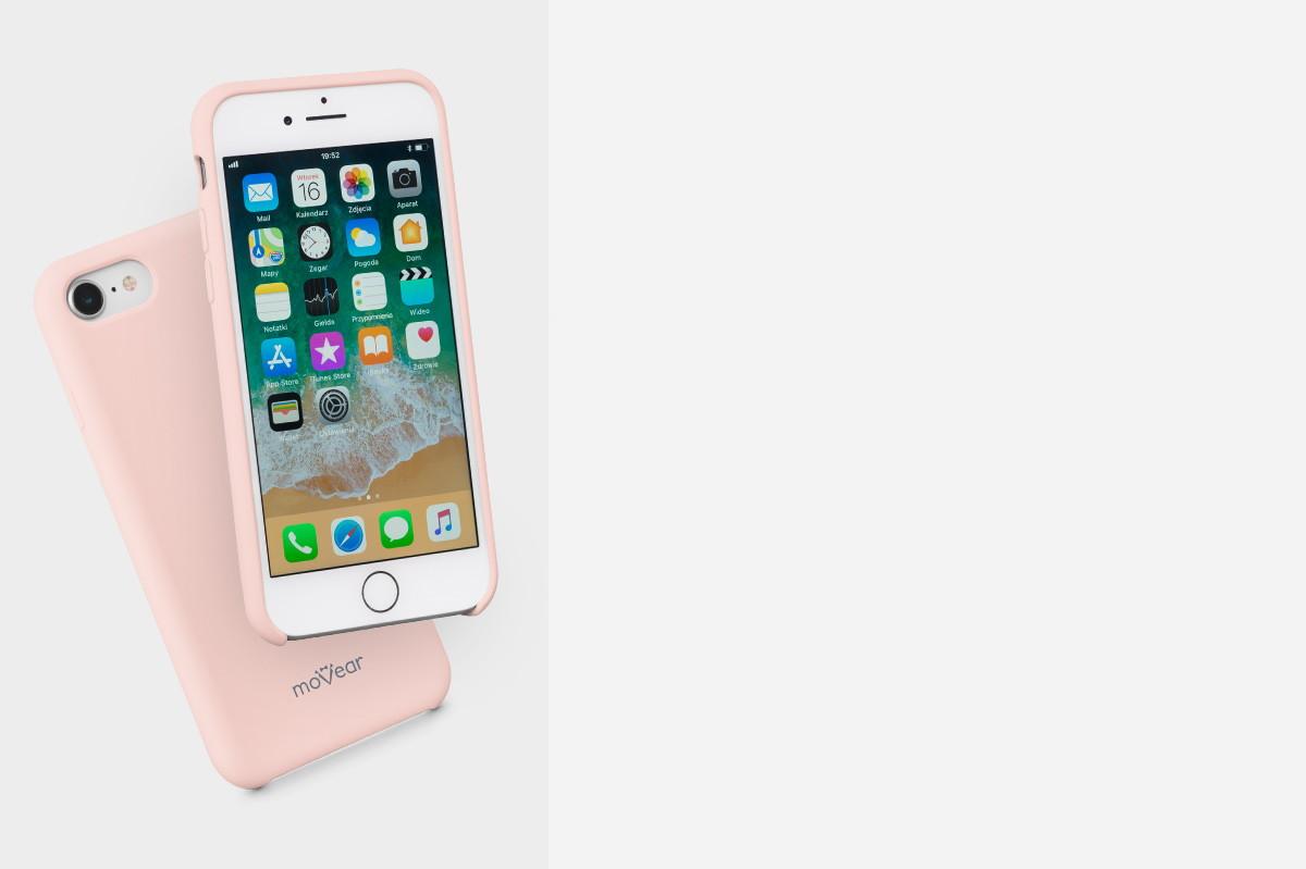 Etui silikonowe na: iPhone 8 / iPhone 7