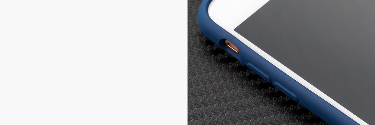 Miękko działające przyciski w etui moVear silkyCase na iPhone 8/7 4.7 cala