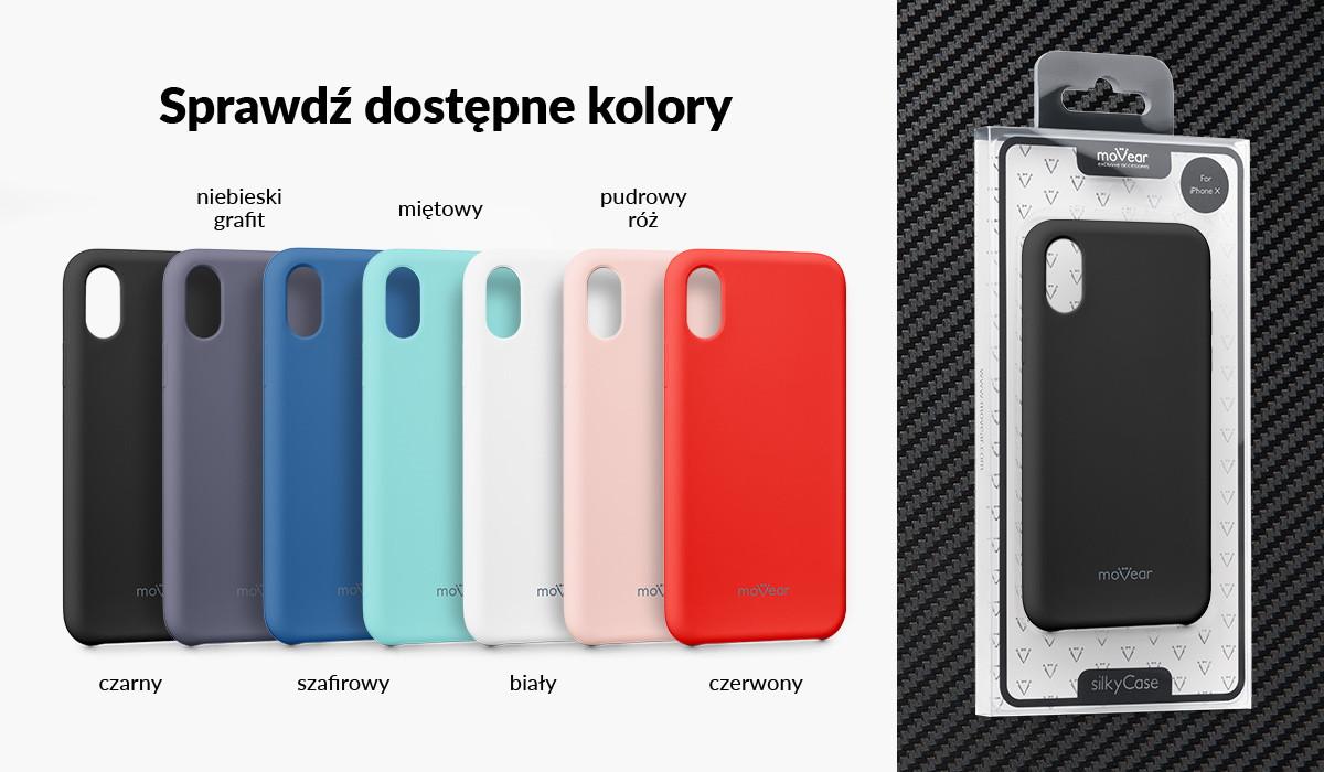 Silikonowe etui do iPhone X dostępne w wielu kolorach