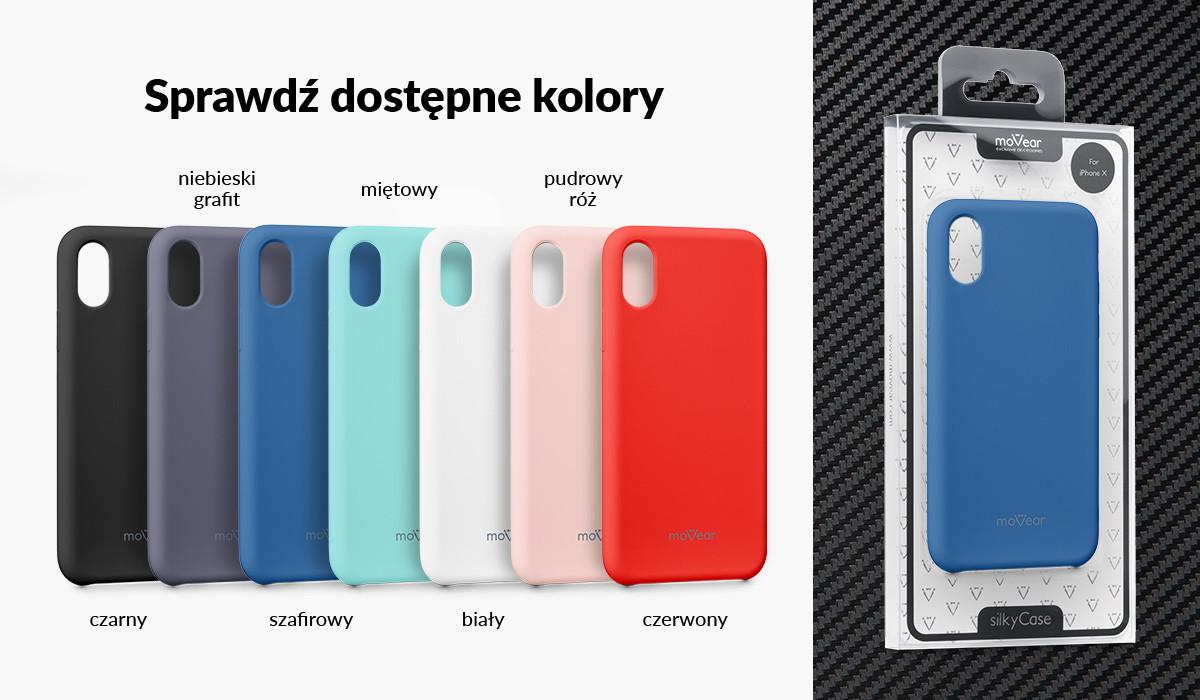 Silikonowe etui do iPhone X (5.8 cala) dostępne w wielu kolorach