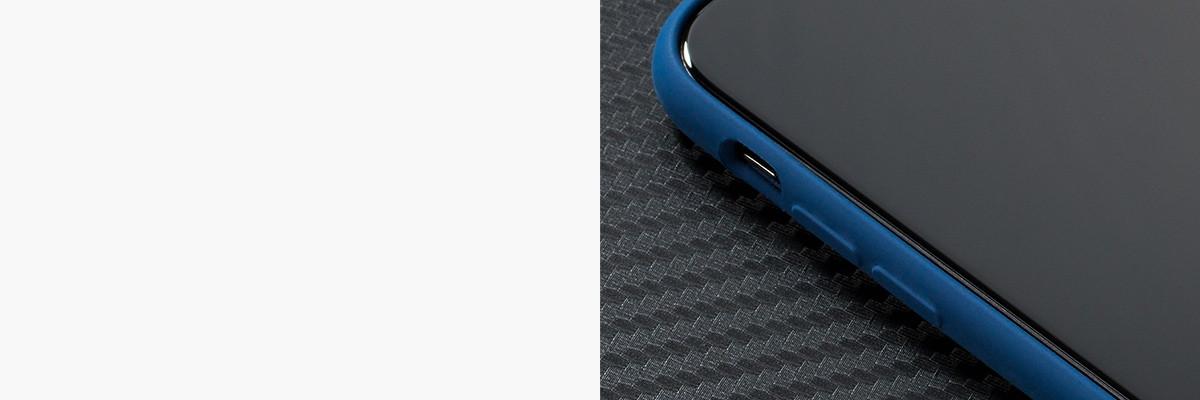 Miękko działające przyciski w etui moVear silkyCase na iPhone X (5.8 cala)