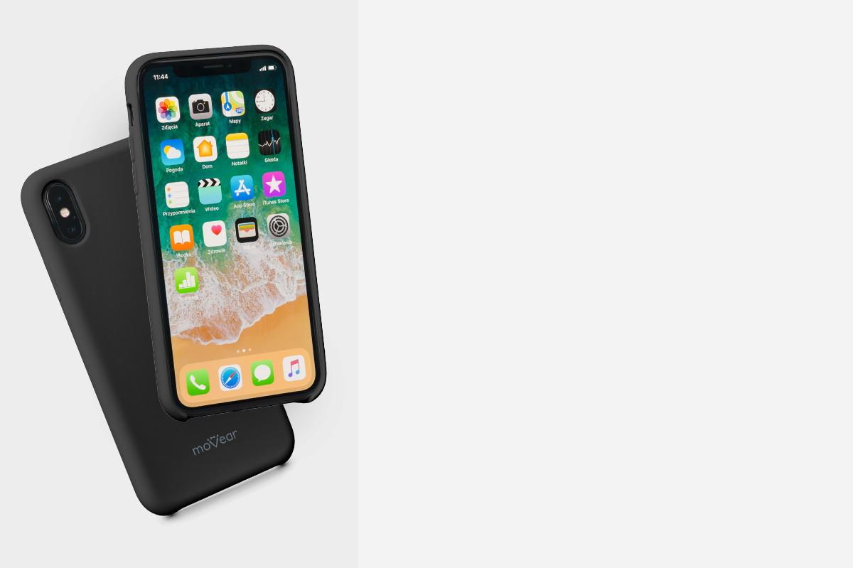 Etui silikonowe na: iPhone Xs MAX