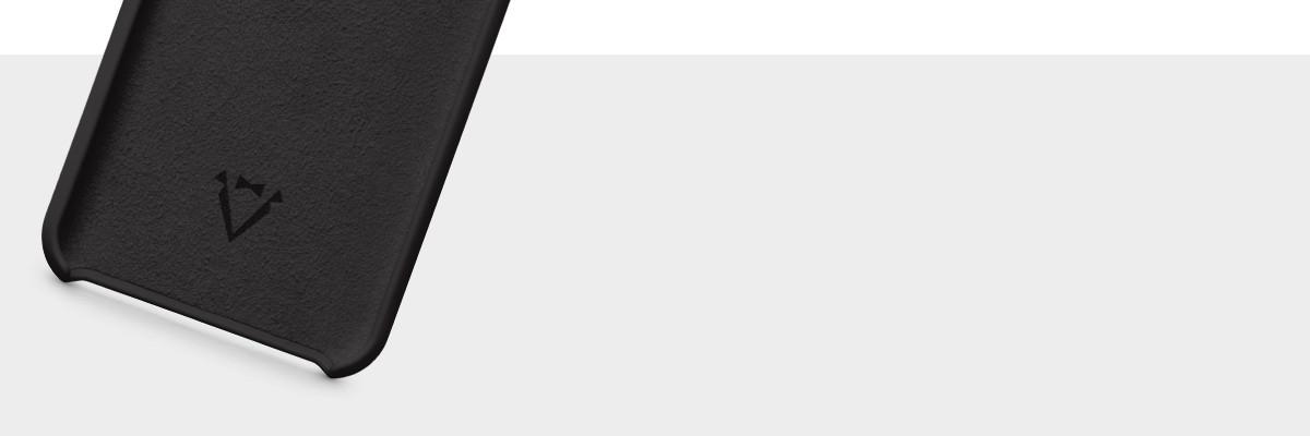 Wnętrze wykończone miękką mikrofibrą w kolorze etui plecków na iPhone Xs (A2097, A2101)