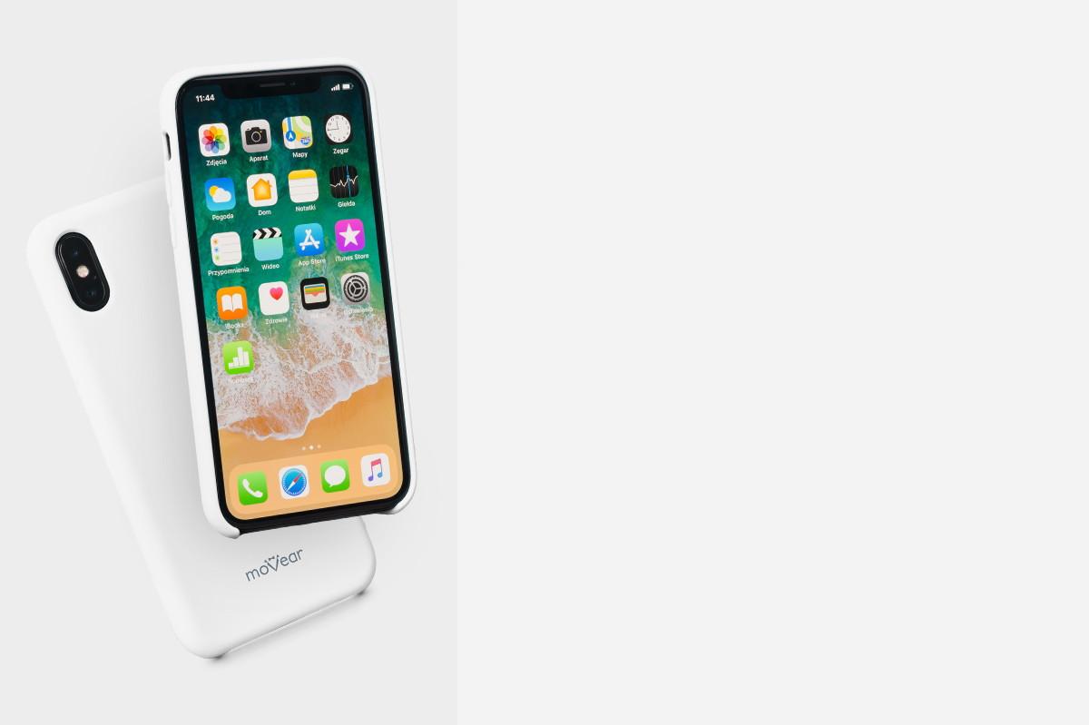 Etui silikonowe na: iPhone Xs