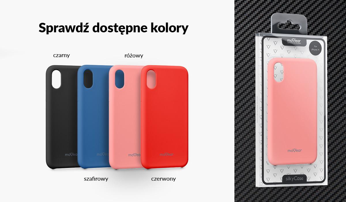 Silikonowe etui do iPhone Xs dostępne w wielu kolorach
