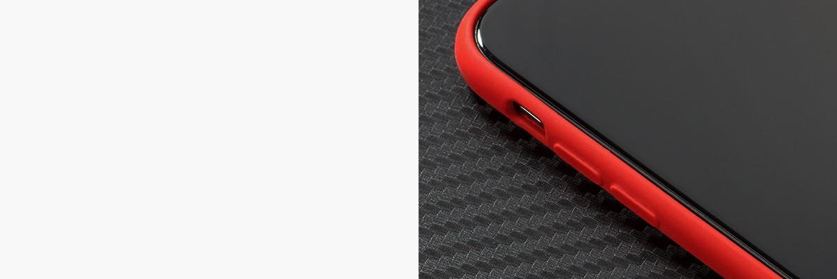 Wyprofilowane wewnątrz przyciski ułatwiają korzystanie z  iPhone Xs