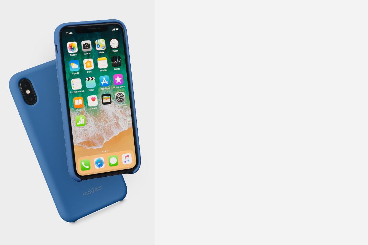 Etui silikonowe na: iPhone Xs (A2097, A2101)