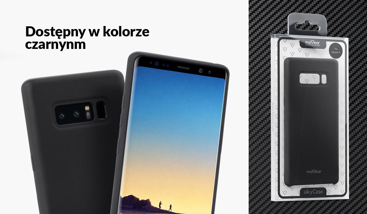 Etui silikonowe moVear silkyCase dla Samsung Note 8 N950F dostępne w kolorach: