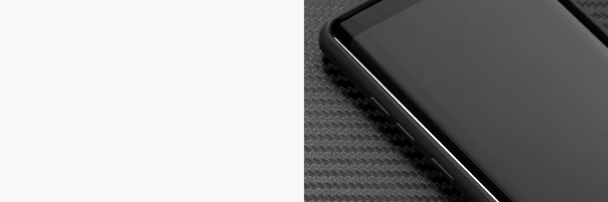 Miękko działające przyciski w etui moVear silkyCase na Samsung Galaxy Note 8