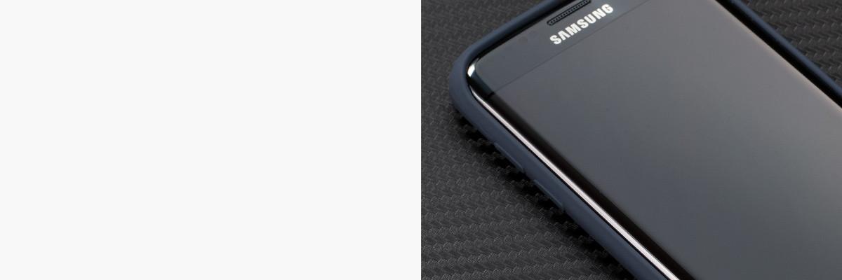 Miękko działające przyciski w etui moVear silkyCase na Samsung S7 edge