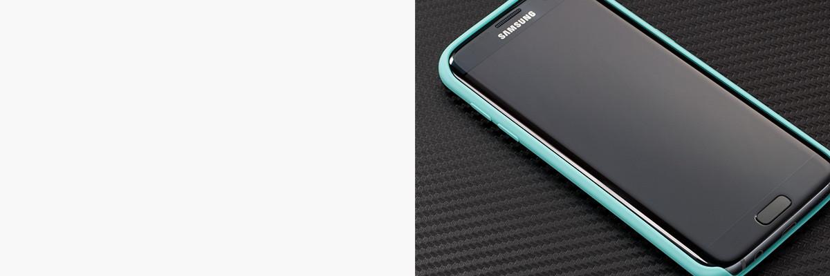 Dopasowane i podniesione krawędzie etui silkyCase na Galaxy S7 edge