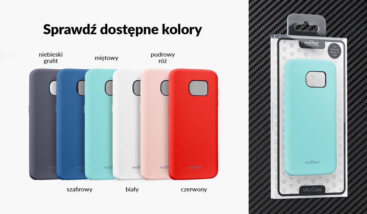 Etui silikonowe moVear silkyCase dla Samsung Galaxy S7 edge dostępne w kolorach: