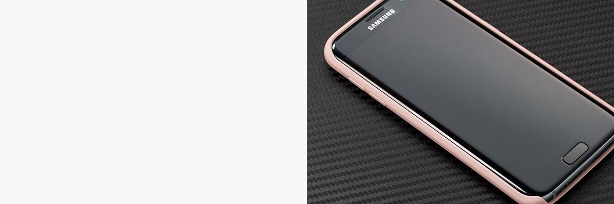 Dopasowane i podniesione krawędzie etui silkyCase na Samsung S7 edge G935F