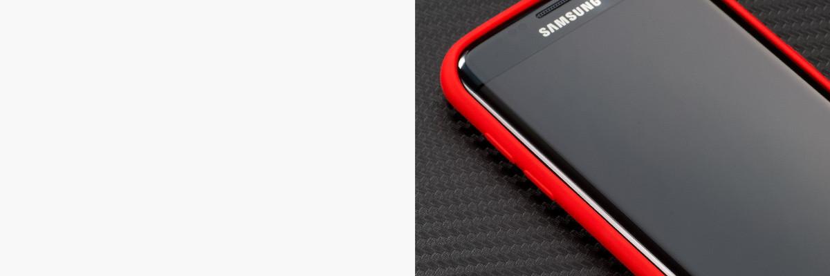 Miękko działające przyciski w etui moVear silkyCase na Samsung Galaxy S7 edge