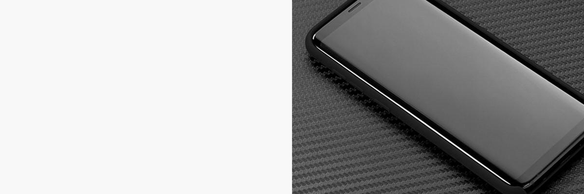 Dopasowane i podniesione krawędzie etui silkyCase na Galaxy S8+ (Plus)