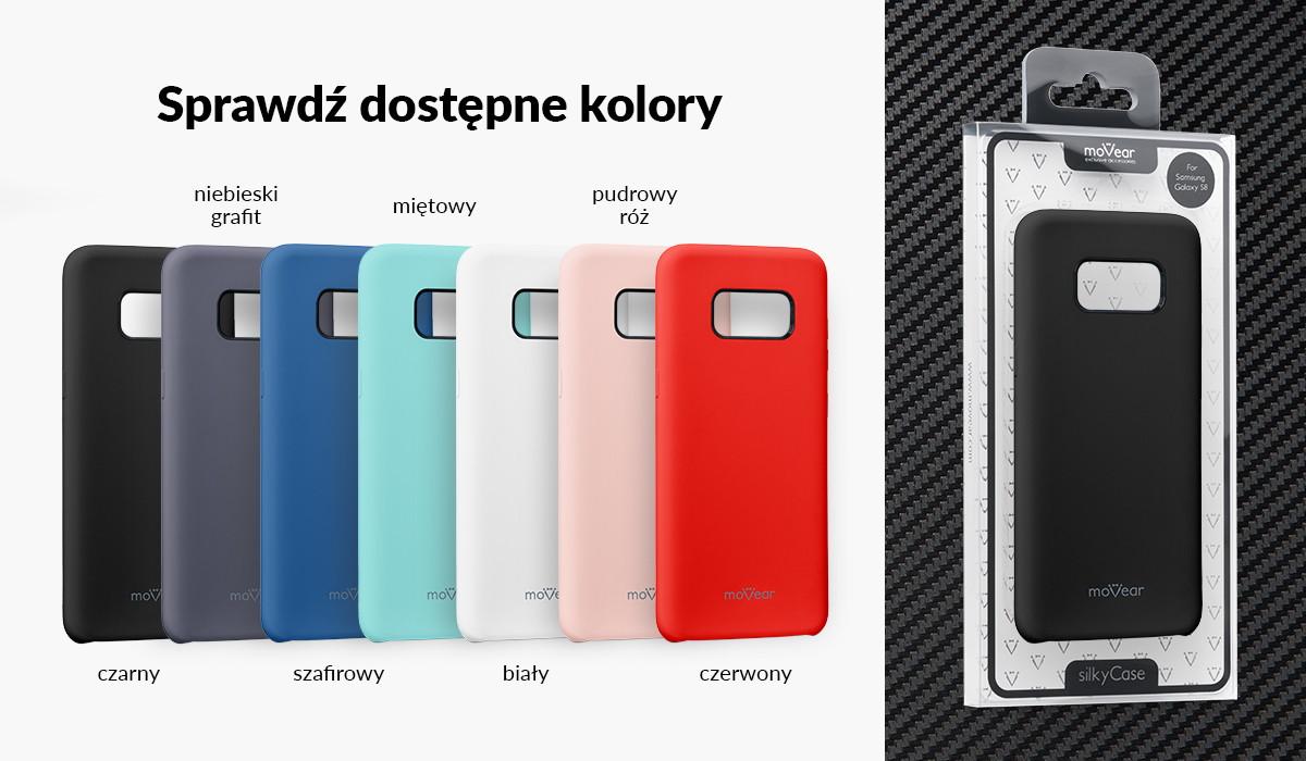 Etui silikonowe moVear silkyCase dla Galaxy S8+ (Plus) dostępne w kolorach: