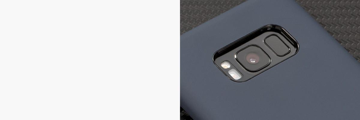 Perfekcyjnie wycięty otwór na aparat w silikonowej obudowie na tył Samsung Galaxy S8+ (G955F)