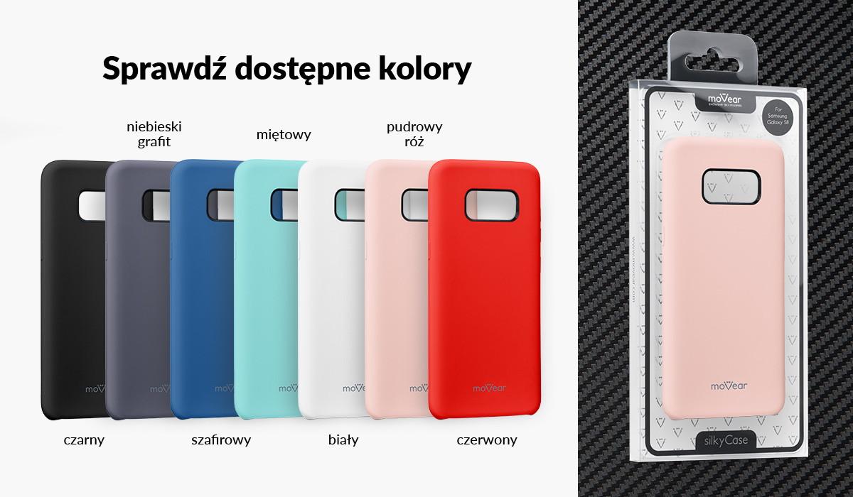 Etui silikonowe moVear silkyCase dla Galaxy S8+ G955F dostępne w kolorach: