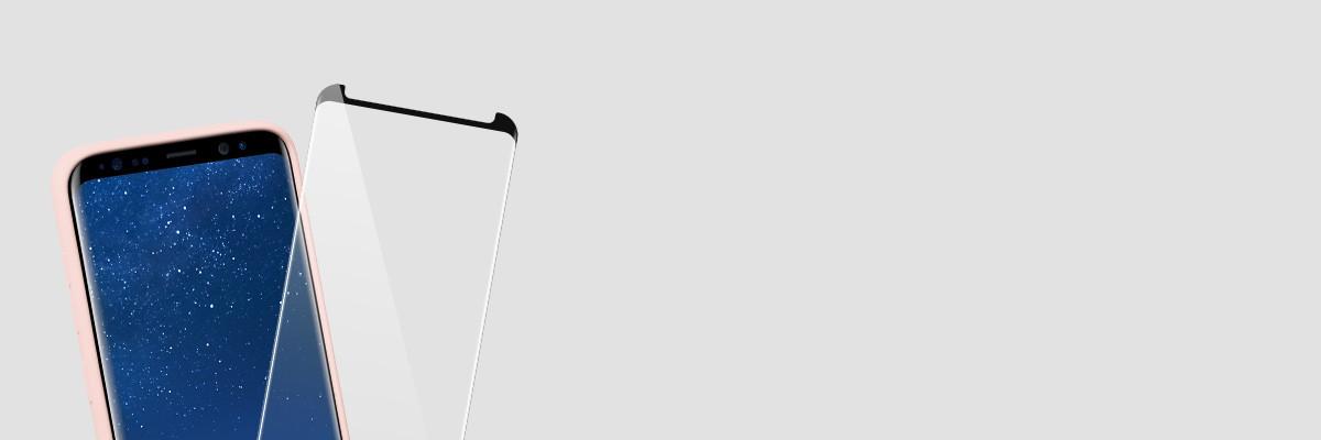 Silikonowe etui na  Galaxy S8+ G955F jest kompatybilne ze szkłami GLASS mSHIELD 3D oraz 2.5D