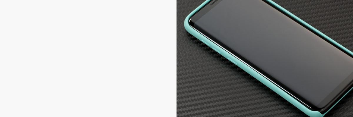 Dopasowane i podniesione krawędzie etui silkyCase na Samsung Galaxy S8