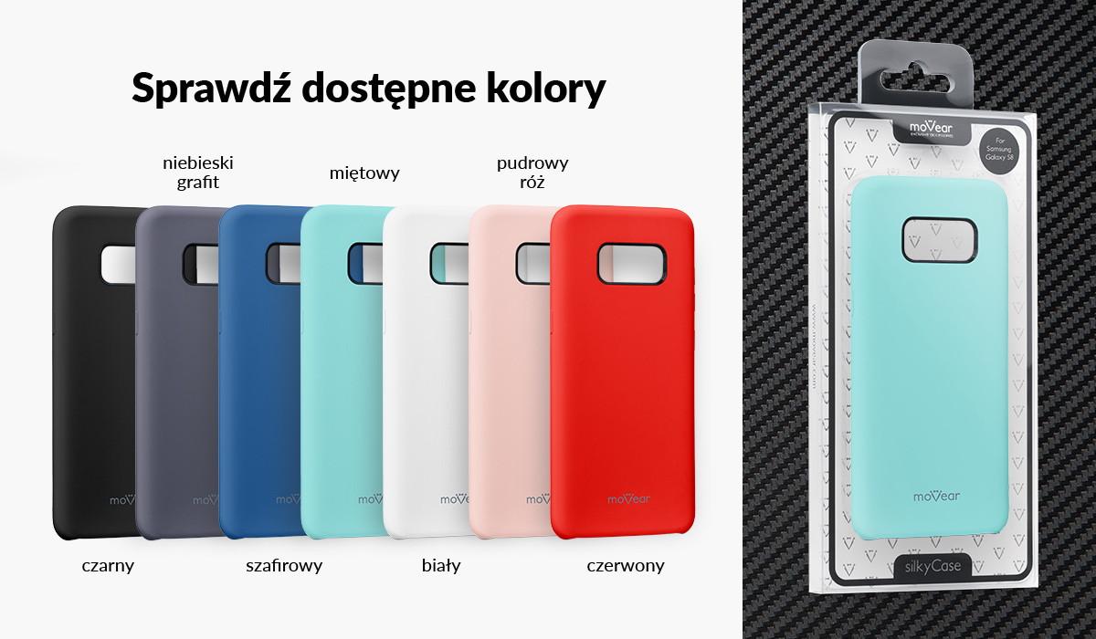 Etui silikonowe moVear silkyCase dla Galaxy S8 G950F dostępne w kolorach: