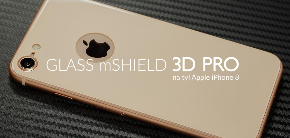 film o szkle hartowanym moVear GLASS mSHIELD 3D PRO iPhone 8