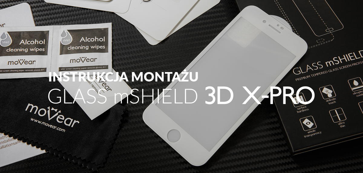 "film instrukcja o szkle hartowanym moVear GLASS mSHIELD 3D iPhone 6 / 6s (4.7"")"
