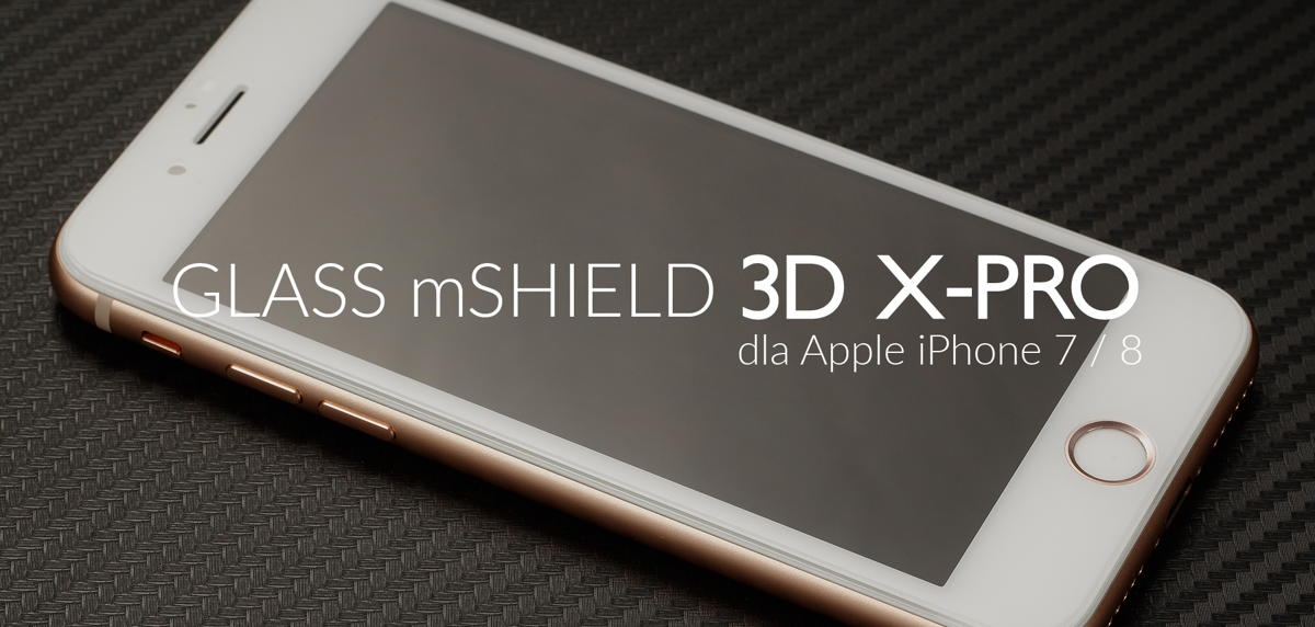 film o szkle hartowanym moVear GLASS mSHIELD 3D X-PRO  iPhone 8 Plus, iPhone 7 Plus